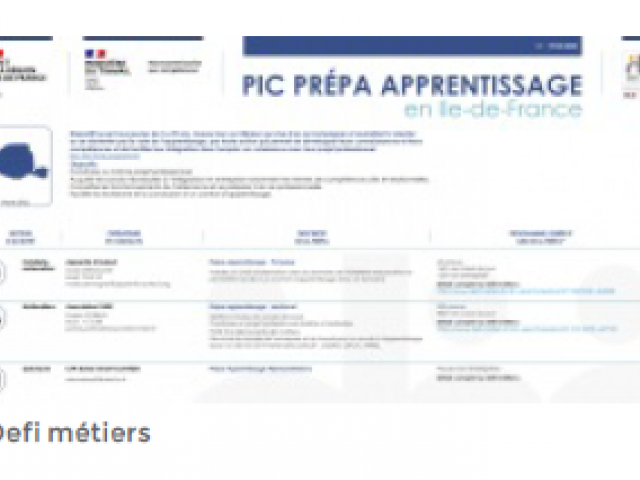 Photo IC PREPA APPRENTISSAGE en Ile-de-France
