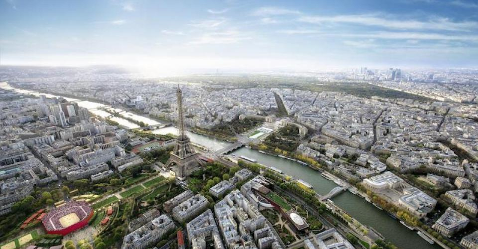 Vue aérienne du grand Paris